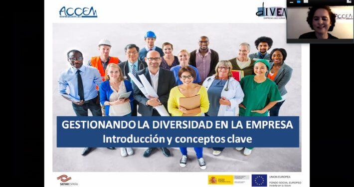 """Webinar informativo """"Gestionando la diversidad en la empresa. Introducción y conceptos clave"""""""